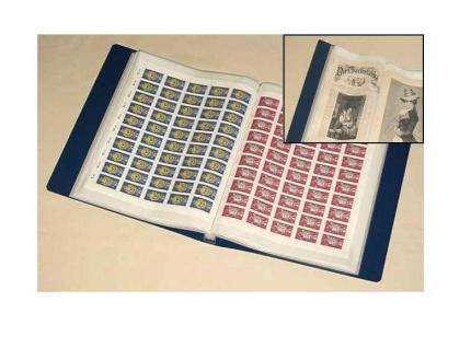 KOBRA B4 Blau Bogenalbum + 50 Hüllen für bis zu 100 Briefmarken Bogen Blocks bis 240 x 360 mm - Vorschau 2