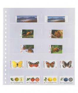 1 x LINDNER 725 Klarsichthüllen Schwarz mit 10 Streifen 120 x 53 mm Für Markenheftchen Telefonkarten