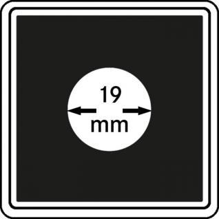 1 x LINDNER 2240019 Münzkapseln / Münzenkapseln CARREE 19 mm Für 5 & 50 Rappen CHR - 5 Pfennig - 2 Cent Êuro - Vorschau 1