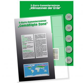 1 x SAFE 7360-4 Premium Münzblatt & Vordruckblatt Deutsche 5 Euromünzen Blauer Planet Erde Gemäßigte Zone 2019 Edition 2016 - 2021