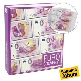 """SAFE 3100 """" 0"""" Euro Souvenir Banknotenalbum Sammelalbum + 5 Ergänzungsblätter 3 Taschen für 30 0 Euro Scheine Geldscheine Tourismus"""