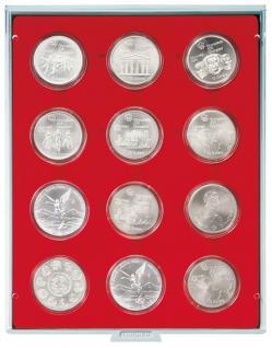 LINDNER 2554 Münzbox Münzboxen Standard 12 x 54 mm Münzen in Münzkapseln