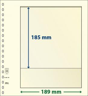 1 x LINDNER 802103 T-Blanko-Blätter Blankoblatt 18-Ring Lochung - 1 Tasche 185 x 189 mm - Vorschau 1