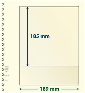 10 x LINDNER 802103P T-Blanko-Blätter Blankoblatt 18-Ring Lochung - 1 Tasche 185 x 189 mm
