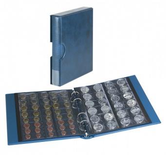 LINDNER S1406M-B Blau Münzalbum Ringbinder RONDO REGULAR Album + Kassette + 5 Münzblättern MU Mixed