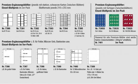 5 x SAFE 7400 PREMIUM Münzblätter Ergänzungsblätter für 12 Münzrähmchen Carree Octo Quadrum Münzkapseln - Vorschau 2