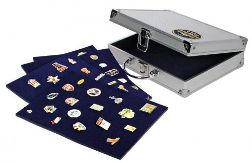 SAFE 240 ALU Sammelkoffer Koffer 6 Tableaus Für bis zu 240 Pin's & Buttons & Anstecknadeln - Vorschau 1