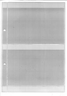 10 x KOBRA A1 Einsteckblätter Ergänzungsblätter glasklar transparent 1 Tasche 125 x 190 mm - Vorschau 2