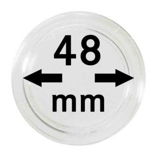 10 LINDNER Münzkapseln / Münzenkapseln Capsules Caps 48 mm 2250048P