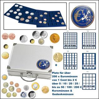 SAFE 179 ALU Münzkoffer Smart Universal EURO MIXED mit 6 Tableaus MIXED Universal Für über Euromünzen Kursmünzen & Gedenkmünzen bis 41 mm