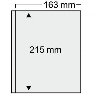 1x SAFE 874 Compact Ergänzungsblätter 163x215mm glasklar Jahresbücher Bundespost Berlin bis 1983