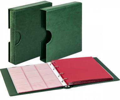 LINDNER 1106EK-G Münzalbum Karat CLASSIC GRÜN + Kassette + 10 x Münzhüllen MIX + 10 rote ZWL Zwischeneinlagen