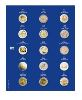 1 x SAFE 7822-22 TOPset Münzblätter Ergänzungsblätter Münzhüllen Münzblatt mit farbigem Vordruckblatt für 2 Euromünzen Gedenkmünzen - 2018