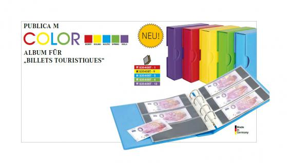 LINDNER S3540BT-1 Berry Rot Banknotenalbum PUBLICA M COLOR Billets Touristiques + 10 Blätter MU3103 - Ideal für 0-Euro Banknoten Geldscheine - Vorschau 2
