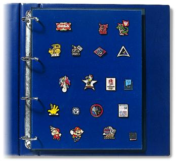 2 x SAFE 5460 Compact A4 Ergänzungsblätter Spezialblätter Samttafeln A4 Pins's Button Militaria - Vorschau 1