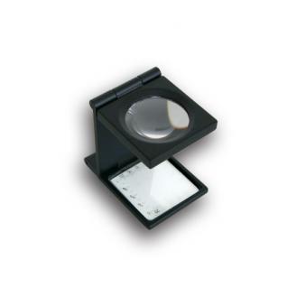 SAFE 9535 Metall Präzisions Standlupe Fadenzähler Lupe Linse 27 mm Meßskalen 6x fache Vergrößerung