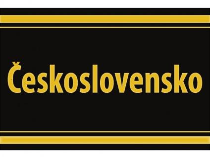"1 x SAFE 1130 SIGNETTE Aufkleber selbstklebend "" Ceskoslovensko "" Tschechoslowakei"