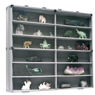 SAFE 5777 Alu Sammelvitrinen Vitrinen Setzkasten MAXI mit 12 Fächern in grau Für Playmobil & Lego Minifiguren - Vorschau 3