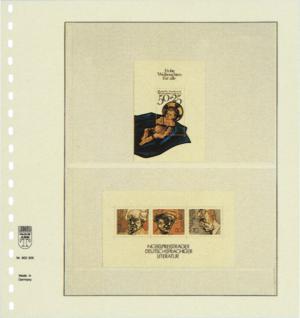 1 x LINDNER 802205P T-Blanko-Blätter Blankoblatt 18-Ring Lochung - 2 Taschen 125 / 92 x 189 mm - Vorschau 2