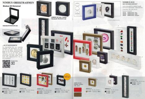 LINDNER 4868 NIMBUS 150 Rot Krokodesign Sammelrahmen Schweberahmen 3D 150x150x25 mm Für Münzen & US Slab Münzkapseln - Vorschau 2