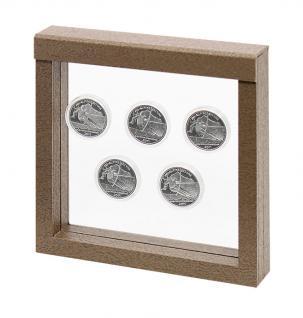 LINDNER 4878 NIMBUS 150 Sammelrahmen Braun Holzdekor Schweberahmen 3D 150x150x25 mm Für Deko Holz Figuren Tiere Elefanten - Vorschau 5