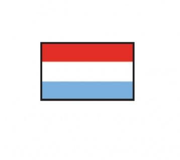 1 x SAFE 1175 SIGNETTE Flagge Luxemburg - Luxembourg Aufkleber Kennzeichnungshilfe - selbstklebend