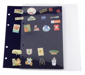 10 x SAFE 7862 Schutzhüllen für SAFE 7861 Samttafeln Ergänzungsblätter Pin's