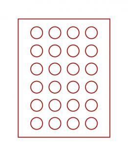LINDNER 2710 Münzbox Münzboxen Rauchglas für 24 Münzen 32, 5 mm Ø 10 DM - 10 - 20 Euromünzen