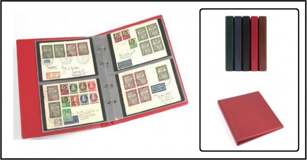 KOBRA G22 Blau Universal Doppel-FDC-Album Sammelalbum 10 geteilten Blättern Für 40 FDC 's Briefe Postkarten Banknoten - Vorschau 1