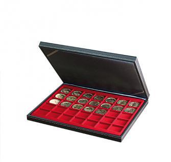 LINDNER 2364-2735E Nera M Sammelkassetten Dunkelrot Rot 35 Quadratische Fächer 36 x 36 mm für Jetons Poker Chips Roulette Casino