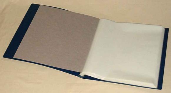 KOBRA B6 Blau Bogenalbum + 50 Hüllen für bis zu 100 Briefmarken Bogen Blocks bis 330 x 380 mm