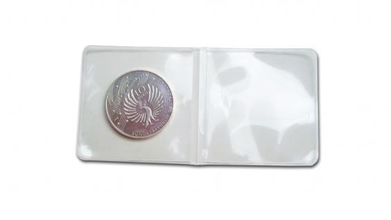 50 x SAFE 1303 Doppel Münzhüllen Doppelmünzhüllen Münztaschen bis 50 mm glasklar - trasnparent