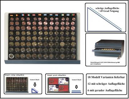 SAFE 6540 Schubladen für SAFE 6500 mit blauer Einlage mit 80 eckigen Fächern für 10x komplette Euro Kursmünzensätze KMS von 1, 2, 5, 10, 20, 50 Cent & 1, 2 Euromünzen