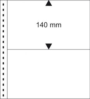 1 x LINDNER 010 Omnia Einsteckblätter weiss 2 Streifen x 140 mm Streifenhöhe Für Postkarten & Briefe & Banknoten - Vorschau 1
