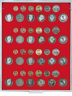 LINDNER 2204 Münzbox Standard für 4 DM Kursmünzen KMS Sätze