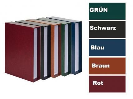KOBRA FR Dunkelbraun - Braun Münzalbum Album Klassic + 5 Münzblättern Mixed + Zwischenblättern Für 143 Münzen - Vorschau 4
