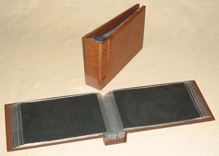 KOBRA G3 Braun Universal Briefealbum Sammelalbum Album 190 x 125 mm Für 100 Fotos Bilder Briefe FDC Ansichtskarten Postkarten Geldscheine Banknoten - Vorschau 2
