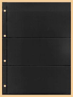 10 x KOBRA E23 Combi Einsteckblätter beideitig schwarz 3 Taschen 84 x 200 mm Ideal für Briefmarken Blocks Viererblocks Banknoten