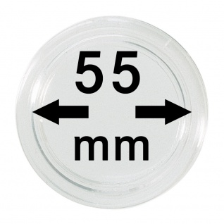 1 x Lindner S22705500 Spezial Münzkapseln Kapseln EXTRA HOCH Innen-Ø 55 mm, Innenhöhe 3, 2 mm Ideal für Geocoins & TBs & Geocaching