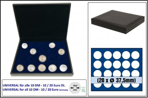 SAFE 63370 NOVA deluxe Münzkassette schwarz 20x runde Fächer 37, 5 mm Ideal für 10 Mark DDR 10 DM 10 20 EURO Deutschland in Münzkapseln 32, 5 mm randlos
