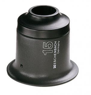 LINDNER 7167 ESCHENBACH Runde Standlupe Steinlupe Anthrazit 15 fache Vergrößerung mit PXM Leichtinse