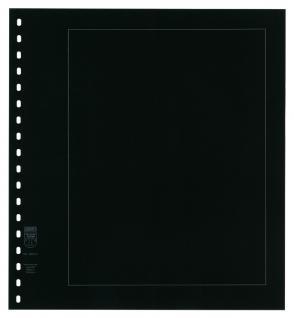 5 x LINDNER 802d Karton BlankoBlätter PERMAPHIL Schwarz - Weisse Umrandunsglinie 193 x 251 mm Format 18-Ring Lochung 272 x 296 mm