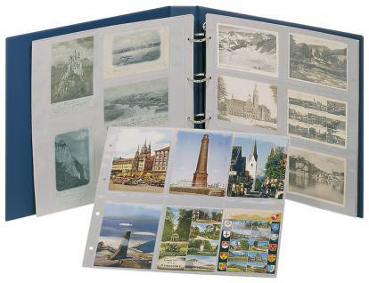 LINDNER 3008-B Postkartenalbum Ringbinder Standard XL Blau + Kassette (leer) zum selbst befüllen - Vorschau 5