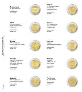 1 x LINDNER 1118-26 Vordruckblatt + K3 Karat Blatt 2 EURO Gedenkmünzen Deutschland - Frankreich 2019