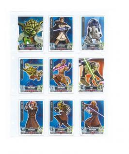 10 x LINDNER 8849 Ergänzungsblätter PUBLICA L 9 Taschen 100 x 72mm Trading Cards Sportkarten - Vorschau 2