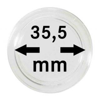 100 LINDNER Münzkapseln / Münzenkapseln Capsules Caps 35, 5 mm für Münzen zb. 5 Rubel Alexander II 2251355 - Vorschau 1