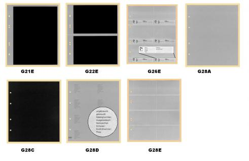 KOBRA G22B Hellbraun - Braun Universal Doppel-FDC-Album Sammelalbum (leer) zum selbstbefüllen - Vorschau 3