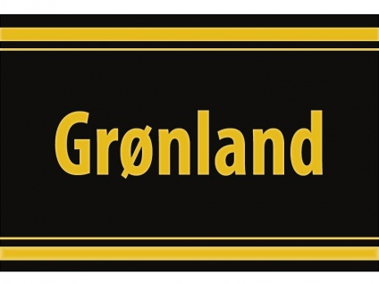 "1 x SAFE 1130 SIGNETTE Aufkleber selbstklebend Grönland "" Grønland "" Kalaallit Nunaat - Greenland"