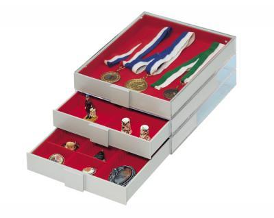 Lindner 2461 Sammelboxen - Sammelbox ohne Facheinteilung Rauchglas / Rauchfarbend