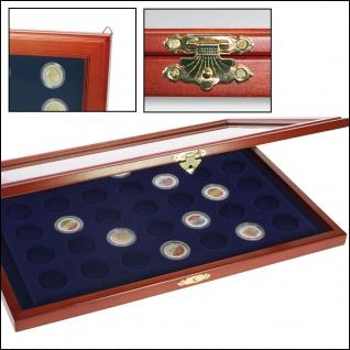 SAFE 5909 Holz Münzvitrinen Vitrinen 35 Fächer bis 35 mm Deutsche Für 5 DM Gedenkmünzen in Münzkapseln 29